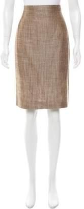 Oscar de la Renta Mélange Pencil Skirt