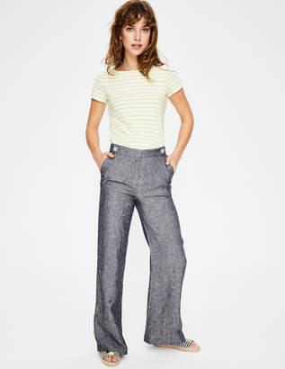 Boden Myra Wide Leg Linen Pants