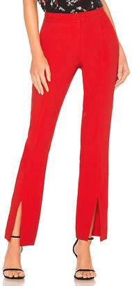 Tanya Taylor Satin Back Crepe Delta Pant