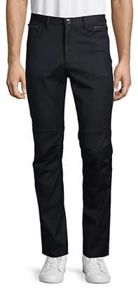 Karl Lagerfeld Five-Pocket Zip Moto Pants