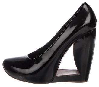 Marc Jacobs Patent Round-Toe Wedges