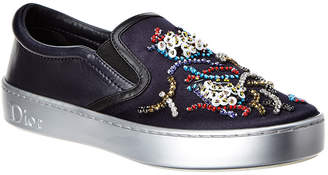 Christian Dior Happy Embellished Leather Slip-On Sneaker