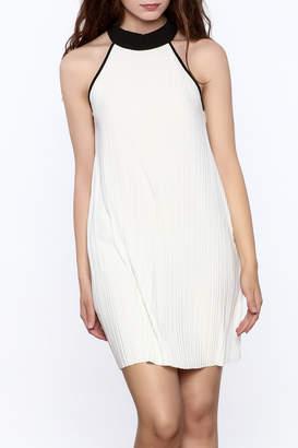 Very J Pleated Halter Dress
