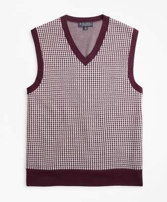 Brooks Brothers Merino Wool Houndstooth Vest