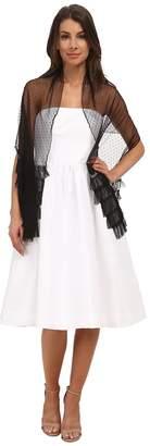 Betsey Johnson Blue by Betsey Swiss Dot Ruffle Hem Wrap Women's Clothing