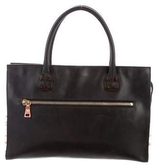 Ruthie Davis Leather Spiked Handle Bag
