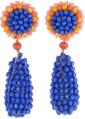 Nakamol Beaded Circle & Teardrop Earrings