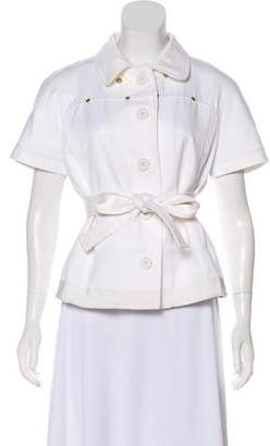Gianfranco Ferre Short Sleeve Belted Jacket
