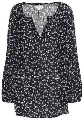 Velvet Bessy printed peasant blouse