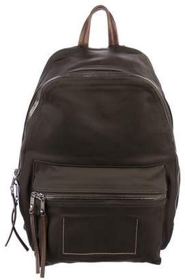 Rick Owens Leather-Trimmed Canvas Backpack