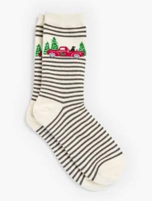 Talbots Red Truck Trouser Socks