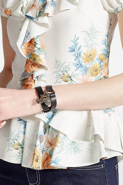 Alexander McQueenAlexander McQueen Leather Wrap Bracelet