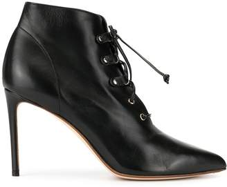 Francesco Russo lace-up high heel ankle boots
