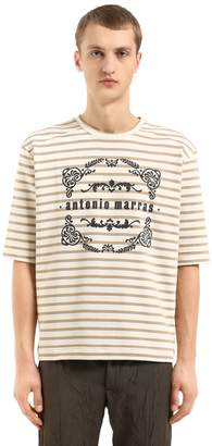 Antonio Marras Striped Cotton Jersey Sweatshirt