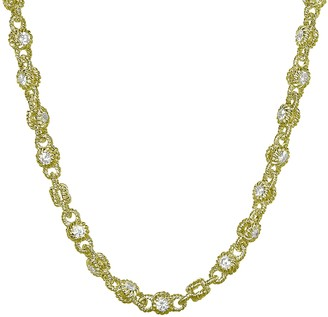 "Judith Ripka 14K Clad & Diamonique Rolling 20""Necklace"