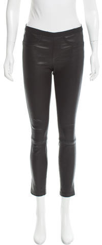 Helmut Lang Helmut Lang Low-Rise Leather Leggings