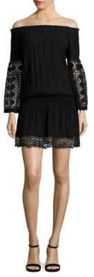 Ramy Brook Lowri Off-The-Shoulder Crochet Dress