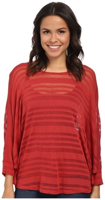 Miraclebody Jeans Patty Poncho Top w/ Body-Shaping Inner Shell $69 thestylecure.com