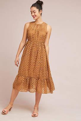 Ne Quittez Pas Uptown Eyelet Midi Dress