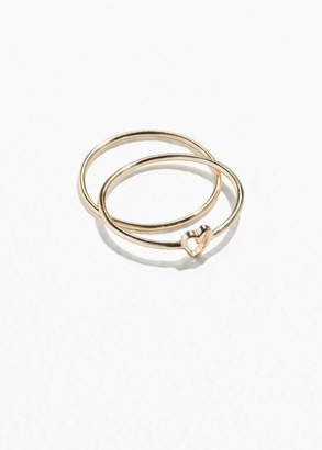 And other stories Gold-Plated Sterling Silver Heart Ring