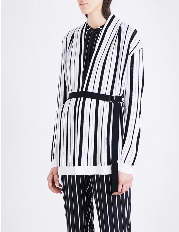 St John Striped knitted cardigan