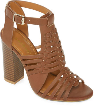 Bamboo Stash Chunky Heel Woven Sandals $24.99 thestylecure.com