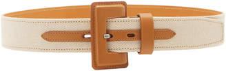 Maison Vaincourt M'O Exclusive Wide Canvas Waist Belt