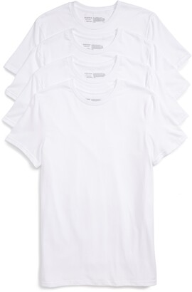 Nordstrom Mens Shop 4-Pack Trim Fit Supima® Cotton Crewneck T-Shirt