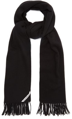 Acne Studios Canada Wool Scarf - Mens - Black
