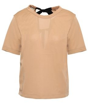 Marni Open-back Bow-detailed Jersey T-shirt