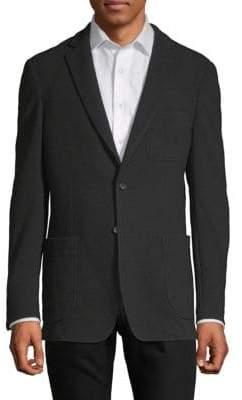 Saks Fifth Avenue BLACK Textured Knit Blazer
