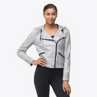 Blanc Noir Hooded Moto Jacket - Women's