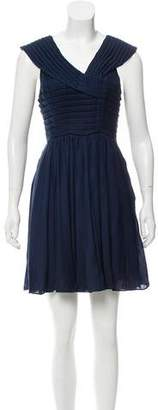 Tracy Reese Pleated Mini Dress