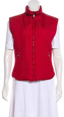 Post Card Quilted Zip-Up Vest