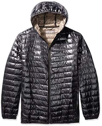 The Plus Project Men's Plus Size Lightweight Down Jacket with Hood 4X-Large