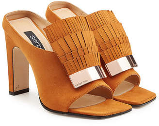 Sergio Rossi Suede Sandals with Fringe