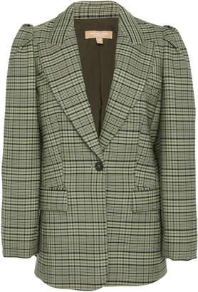 Michael Kors Puff Sleeve Wool-Blend Blazer