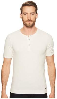 BOSS ORANGE Trixer Short Sleeve Henley Shirt Men's Clothing