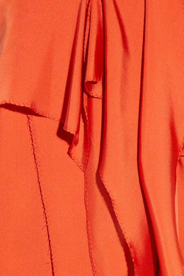 Bottega Veneta Strapless silk-satin dress