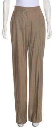 Max Mara Virgin Wool-Blend High-Rise Pants