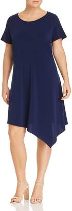 Leota Plus Darien Asymmetric-Hem Dress