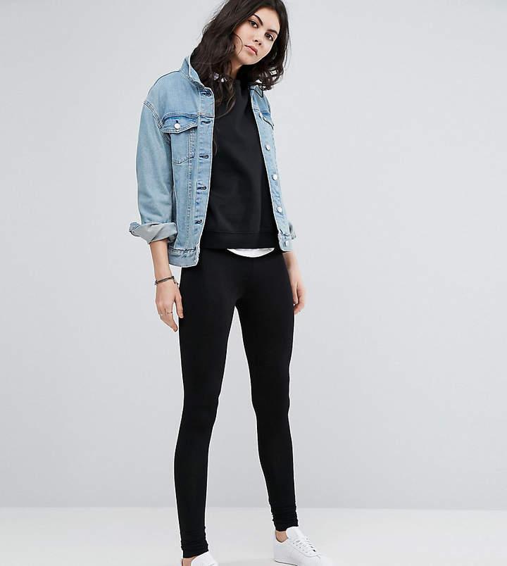 ASOS Tall ASOS DESIGN Tall high waisted leggings in longer length