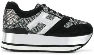 Hogan high heel suede sneakers
