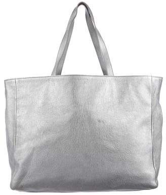 Saint Laurent Large Metallic Shopping Tote