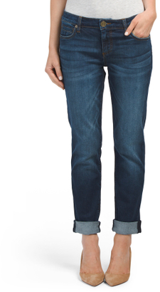 Katy Roll Cuff Boyfriend Jeans $24.99 thestylecure.com