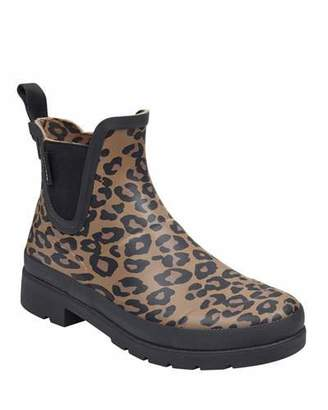 Tretorn Lina Leopard-Print Rubber Rain Boots