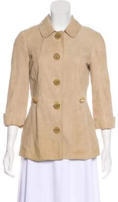 Tory Burch Suede Button-Up Jacket