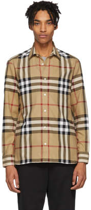 Burberry Beige Check Richard Shirt