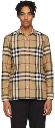 Burberry Beige Check Richard Shirt