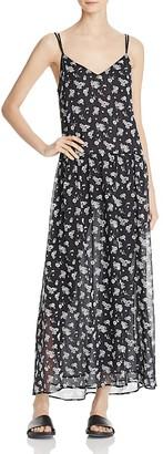 Vince Shirred Floral Silk Slip Dress $425 thestylecure.com